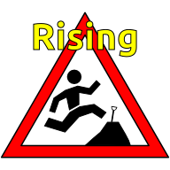 The logo of rising